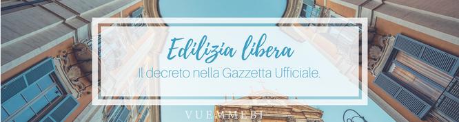 Gazzetta Ufficiale, edilizia libera, edilizia cagliari, edilizia sardegna