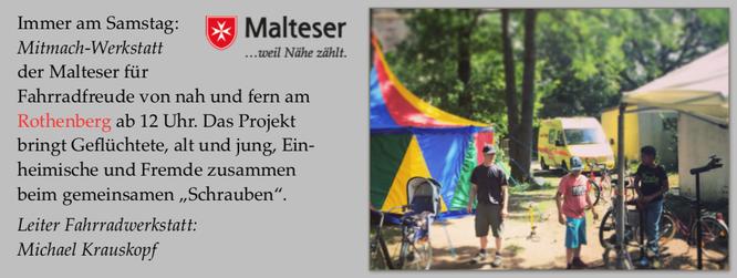 Jeden Samstag in der Saison hat die Fahrradwerkstatt am Rothenberg (Marburger Str. 87) geöffnet.