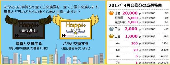 ポイ活サイトハピタス宝くじ