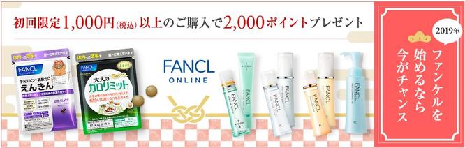ポイントタウンファンケル広告利用キャンペーン期間2019年3月1日まで