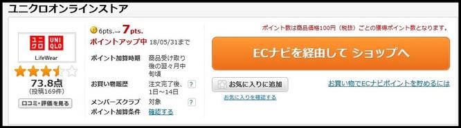 ランキング10位ECナビおすすめ広告ユニクロオンライン