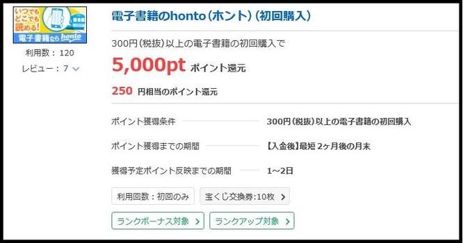 おすすめポイントサイト「ポイントタウン」で電子書籍ホント初回購入
