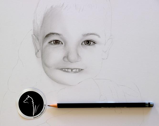 """""""Making of"""" Kinderporträt Teil 1"""