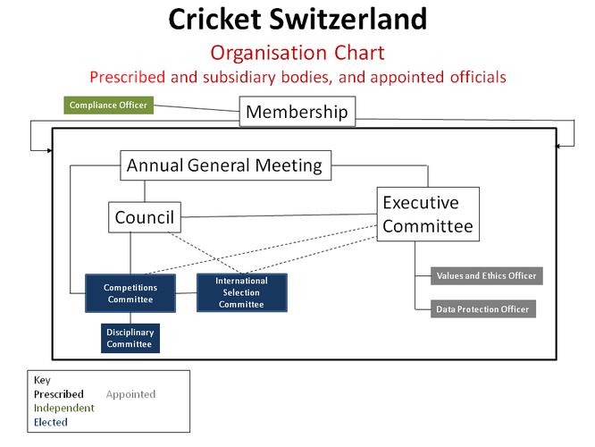 Cricket Switzerland Organisational Chart