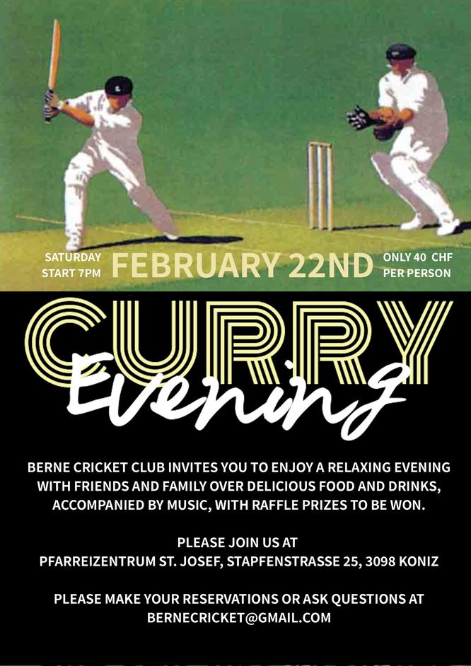 Berne CC Curry Evening (22.2.2020)