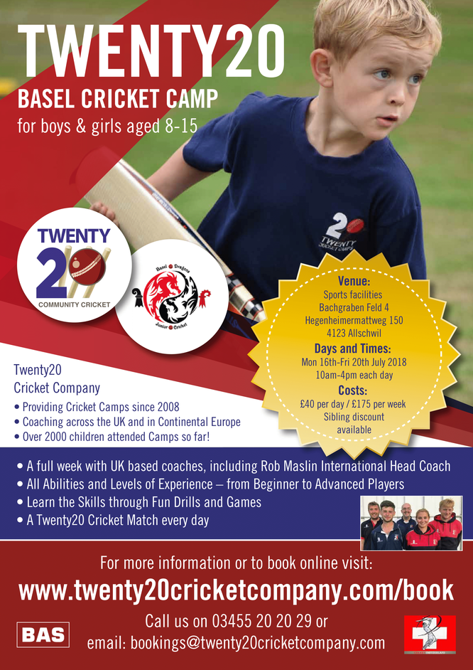 Basel Summer Cricket Camp (16-20.7.2018)