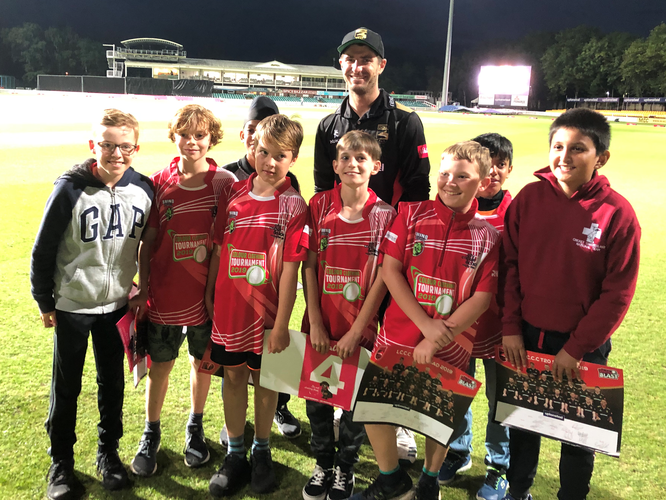 Swiss U11s with Colin Ackerman (World Record T20 Bowler)