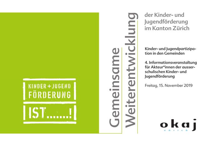 Informationsveranstaltung Kinder- und Jugendförderung in Kanton Zürich - Seite 1