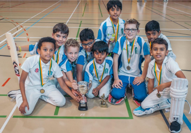 Zurich Crickets CC U11s - winners of the Gingins U11 indoors (9-10.11.2019)