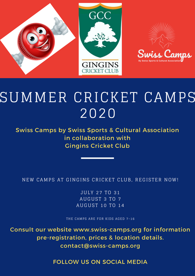 Swiss junior summer cricket camps