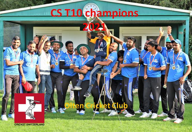CS T10 champions 2021 - Olten Cricket Club