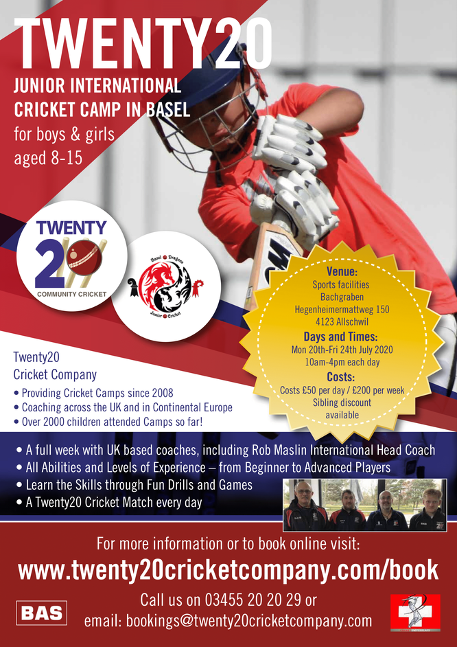 Basel Junior International Cricket Camp (20-24.7.2020)
