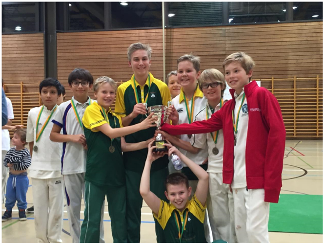 Gingins U13 indoor tournament winners: Gingins/GRYCC