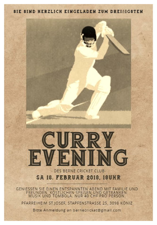 Bern CC Curry Evening (16.2.2019)