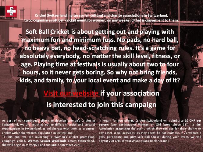 Women's cricket weekend campaign Flyer