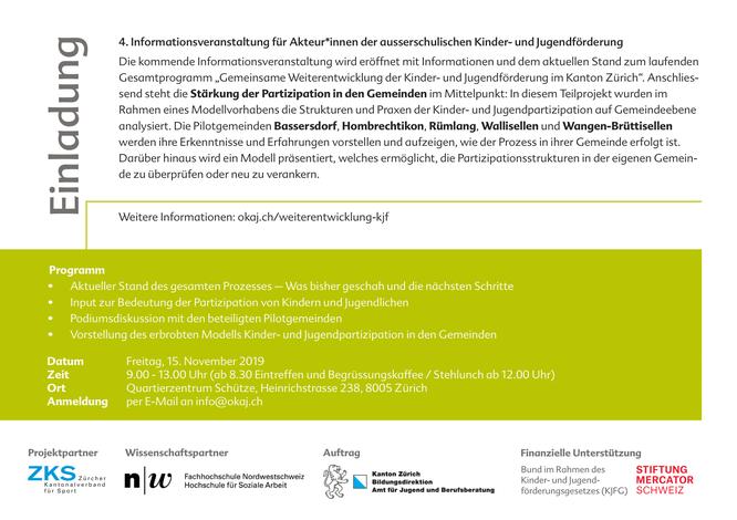 Informationsveranstaltung Kinder- und Jugendförderung in Kanton Zürich - Seite 2