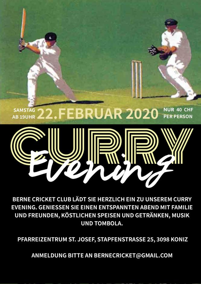 Berne CC Curry Abend (22.2.2020)