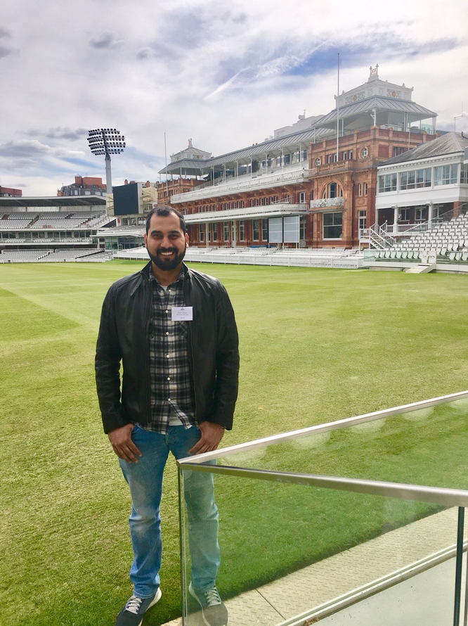 #CWC19 - Prafull Shikare at Lord's Cricket Ground