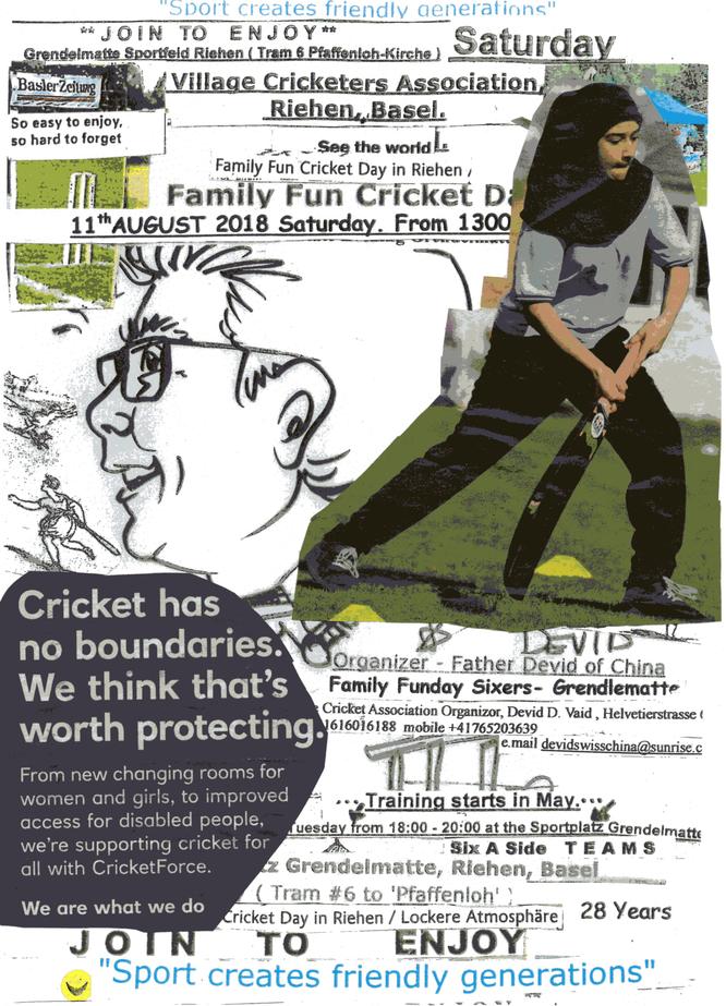 Village Cricket Fun Day poster 2018