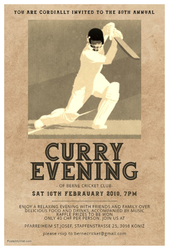 Berne CC Curry Evening (16.2.2019)