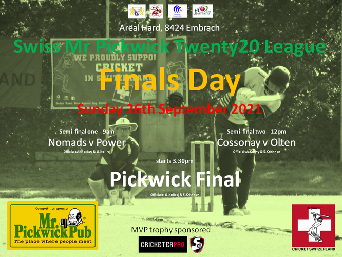 Pickwick T20 Finals Day 2019