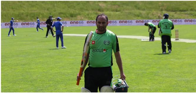 Nasir Mahmood, Mannschaftskapitän St.Gallen Cricket Club.