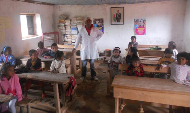 Grundschule Ampamoha, Januar 2015 (Foto von Hyacinthe Rakotoharimanana)