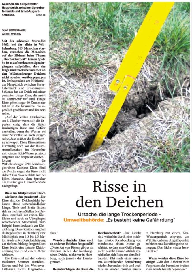 Wochenblatt Wilhelmsburg vom 02.11.18, Seite 3