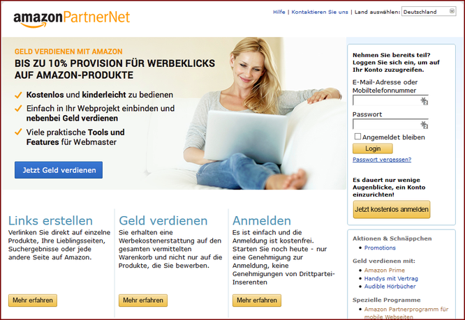 amazon partnerprogramm - Amazon Online Bewerbung