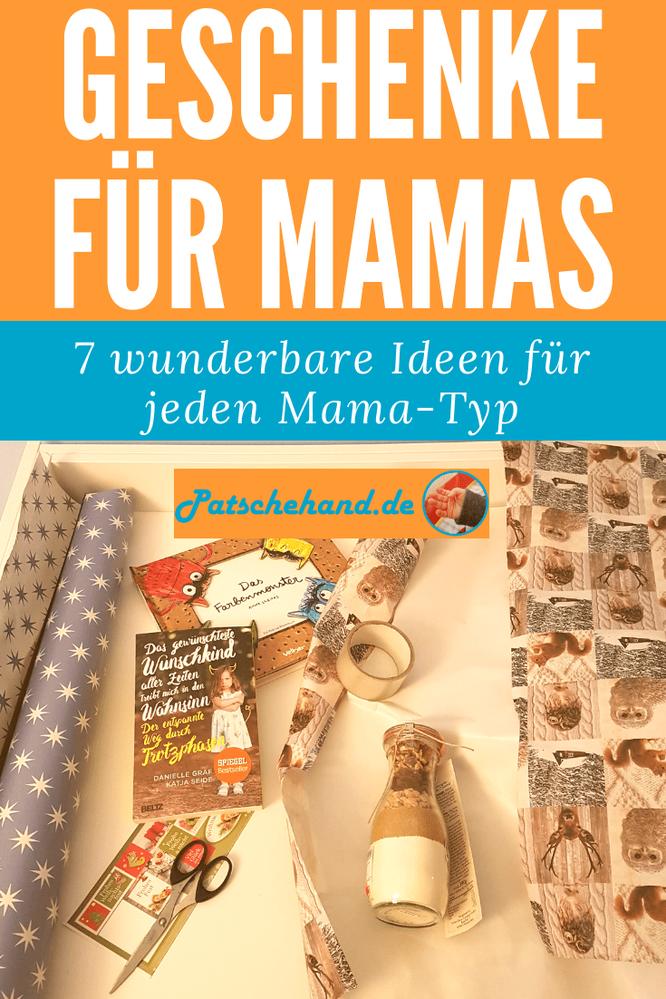 Grafik für Pinterest oder zum Teilen rund um die Suche nach dem perfekten Geschenk zu Weihnachten für Mütter auf Mama-Blog Patschehand.de.