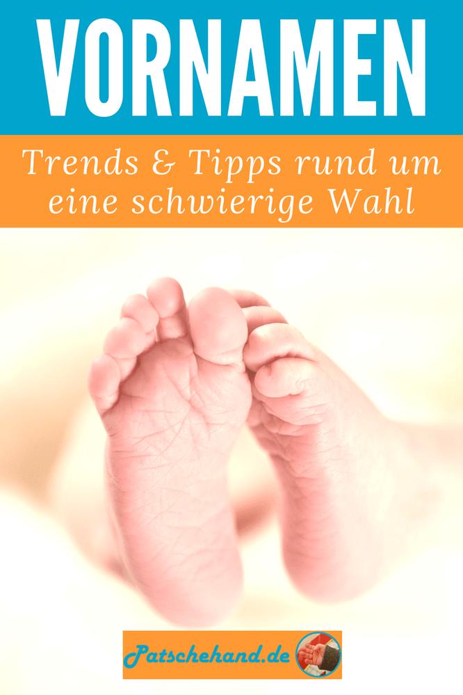 Grafik für Pinterest oder zum Teilen rund um die Suche nach einem Vornamen fürs Baby auf Mama-Blog Patschehand.de.
