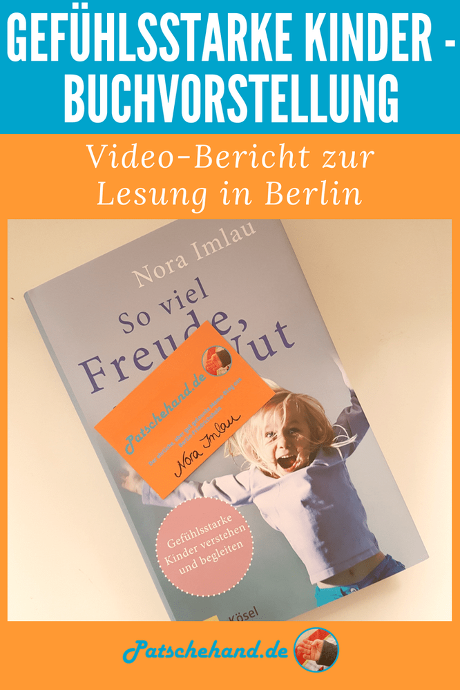 """Grafik zu Video-Bericht über Nora Imlaus Buchvorstellung von """"So viel Freude, so viel Wut"""" in Berlin."""