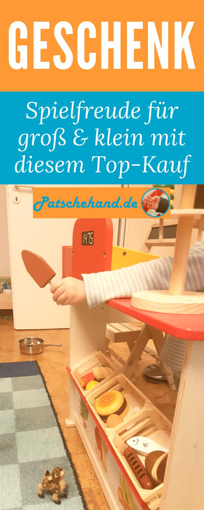 Das perfekte Geschenk - ein Kinder-Kaufmannsladen: Pinterest-Grafik auf Mama-Blog Patschehand.de.