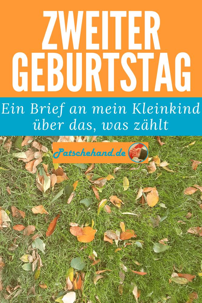 Grafik zu meinem Geburtstagsbrief auf Patschehand.de für Pinterest bzw. zum Teilen auf facebook