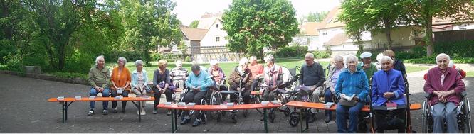 Seniorenheim St. Nikolaus Spalt: Maiandacht 2019 im Bürgergarten