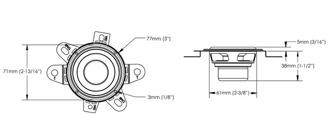 Skizze Maße Audiofrog Lautsprecher GS225