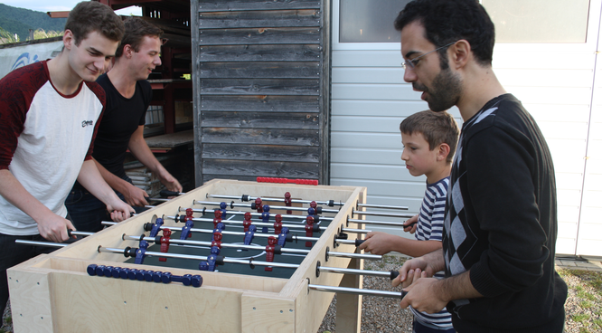 Bild: Vier Spieler können ihr Können beweisen.