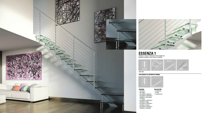 Faraone - лестница маршевая - модель Essenza Uno