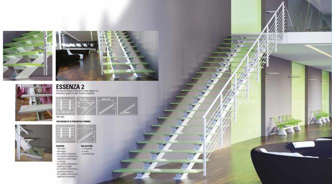 Faraone - лестница маршевая - модель Essenza Due