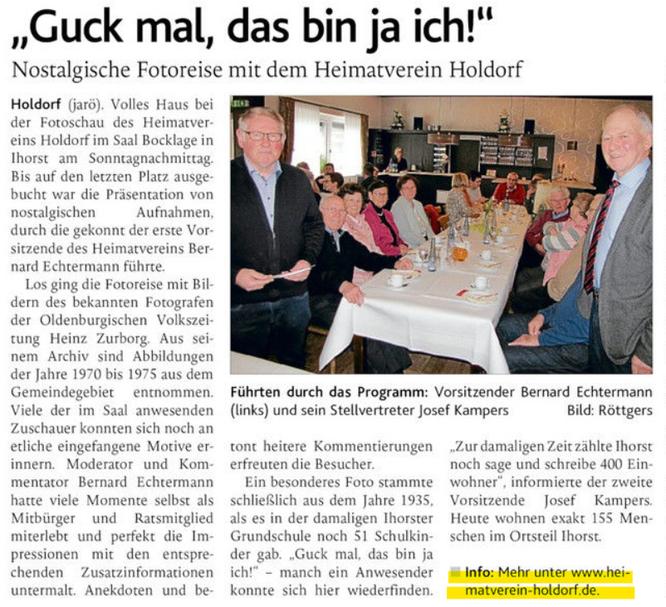 Bericht in der Oldenburgischen Volkszeitung (OV) vom 12.02.2020