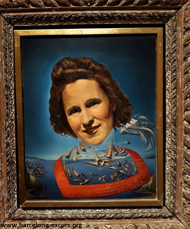 Шедевры Театра-Музея Дали. Портрет Гала с признаками оносороживания