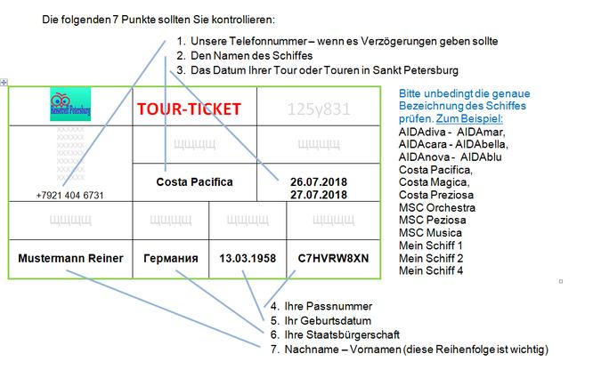 Unsere Erklärung eines Tourtickets für St. Petersburg visafrei