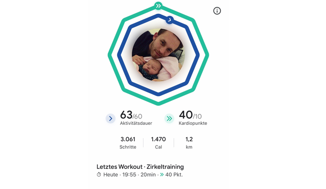 Google Fit App Screenshot