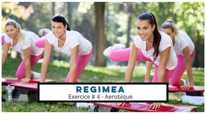 4 femmes qui pratiquent l'aérobic