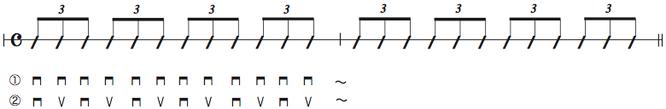 画像 譜面Ex.7 3連符のストローク