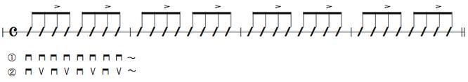 画像 譜面Ex.3 8ビートのストローク練習
