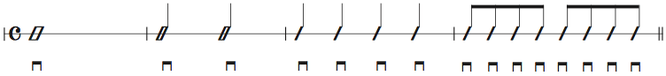 画像 譜面Ex.1 ダウンストロークの練習