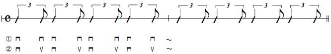 画像 譜面Ex.8 シャッフルのスロトーク