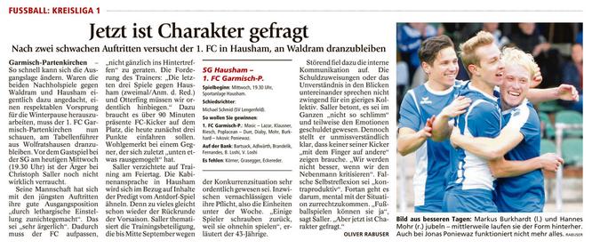 Ga-Pa Tagblatt vom 02.11.2016