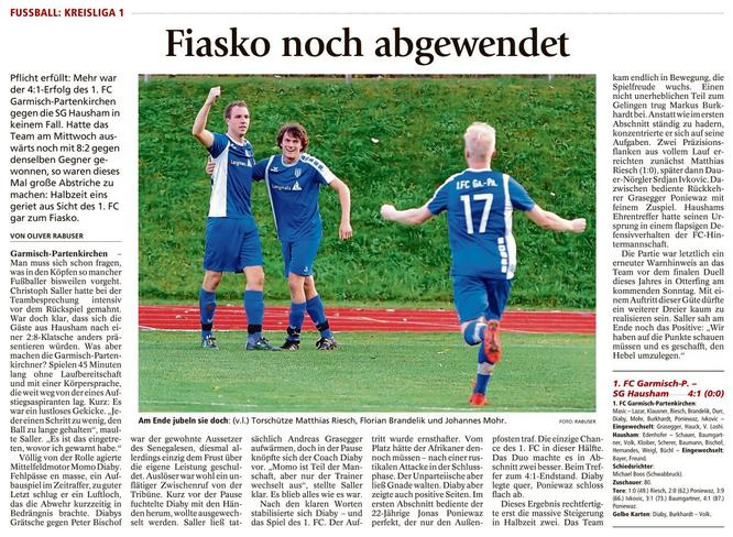 Ga-Pa Tagblatt vom 07.11.2016